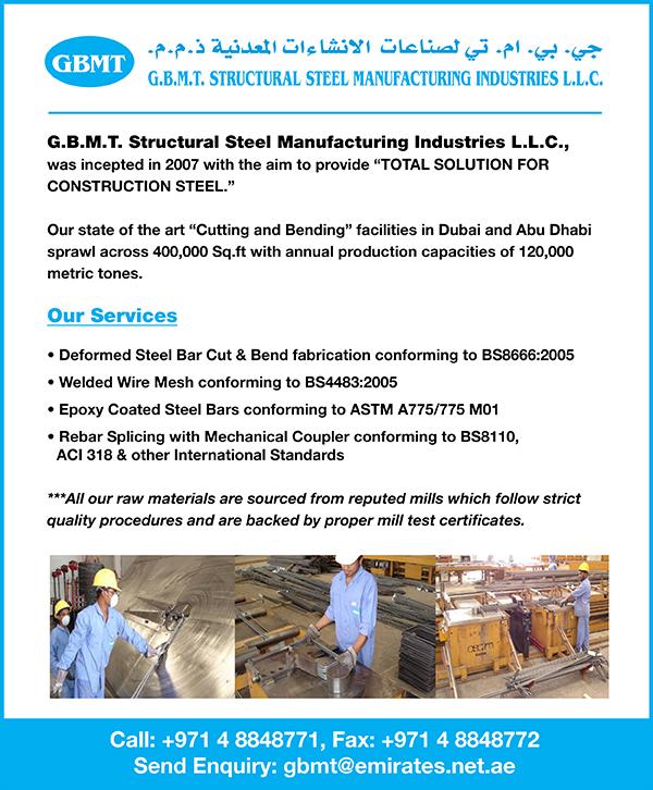 GBMT Structural Steel Manufacturing Ind LLC in Jebel Ali