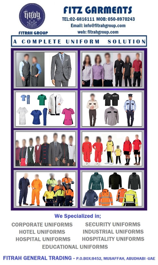 Uniforms in UAE | Uniforms Manufacturer Companies in $$Emirae