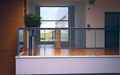 glass railing balustrade architecture abu dhabi